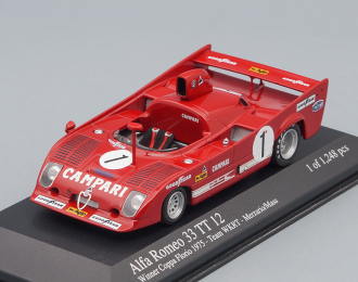 ALFA ROMEO 33 TT 12 Winner Coppa Florio 1973, red