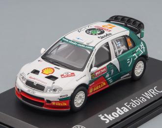 SKODA Fabia WRC EVO II, Rallye Japan (2005), white / green