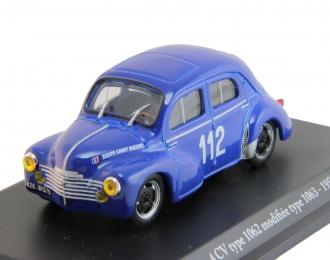 RENAULT 4 CV type 1062 modifiée type 1063 de 1953, серия Renault 4 CV 16, синий