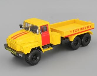 КРАЗ 260В Балластный тягач Техпомощь, желтый