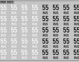 Набор декалей Дублирующие знаки России Омская область (100х70)