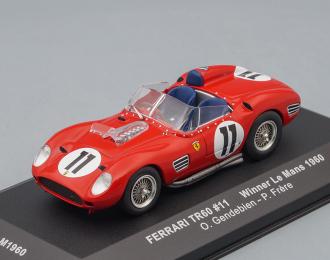 FERRARI TR60 11 Winner Le Mans (O.Gendebien - P.Hill) 1960, red