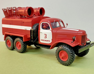 ЗИL-157 пожарная цистерна на базе 8ТЗ11 с доп. ПТВ на цистерне (белые цгэ)