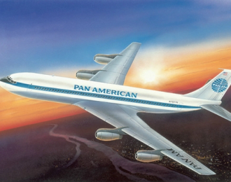 Сборная модель Лайнер Боинг 707-121