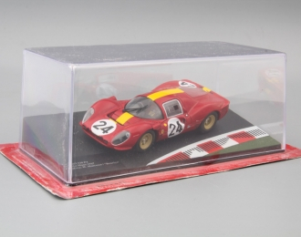 """FERRARI 330 P4 24h Le Mans Drivers: W.Mairesse / """"Beurlys"""" #24 (1967), red / yellow"""