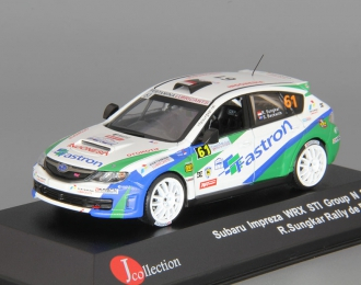 SUBARU Impreza WRX STi #61 R.Sungkar Group N Rally de France (2012), white / green / blue