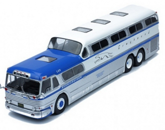 "автобус GM PD-4501 ""GREYHOUND SCENICRUISER"" 1956 Blue/White"