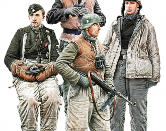 Сборная модель German Tank Crew. Kharkov 1943. Resin Heads