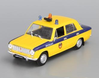 (Уценка!) Волжский автомобиль 2101 Милиция, Автомобиль на службе 18, желтый