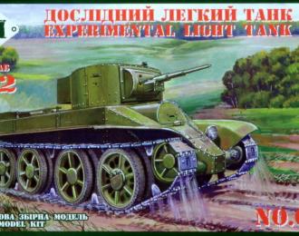 Сборная модель Экспериментальный легкий танк БТ-6