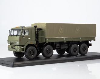 КАМАЗ-6560 бортовой (с тентом), хаки