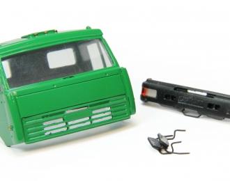 Дневная кабина для КАМАЗ (Евро-2, пластиковый бампер), зеленый