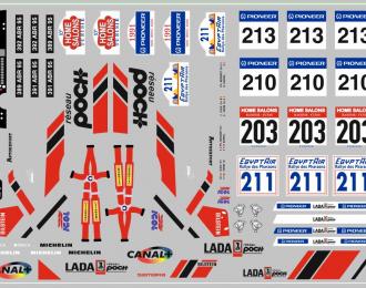 Набор декалей ВАЗ LADA спорт (вариант5) (100х70)