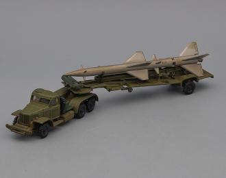 ZIL-157 с ракетой, зеленый