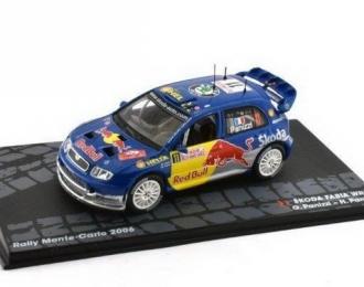 "SKODA Fabia WRC ""RED BULL"" #11 G.Panizzi/H.Panizzi Rally Monte-Carlo 2006"