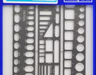 Набор шаблонов  №1 (прямые линии)  TEMPLATE SET 1 ( STRAIGHT LINE ) TP1 71101 (HASEGAWA)