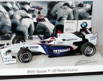 "BMW Sauber F1.09 ""Petronas"" #5 Robert Kubica Formel 1 (2009), white"