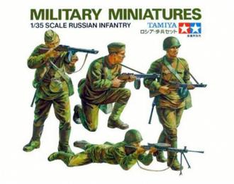 Сборная модель Советские пехотинцы в атаке. 4 фигуры