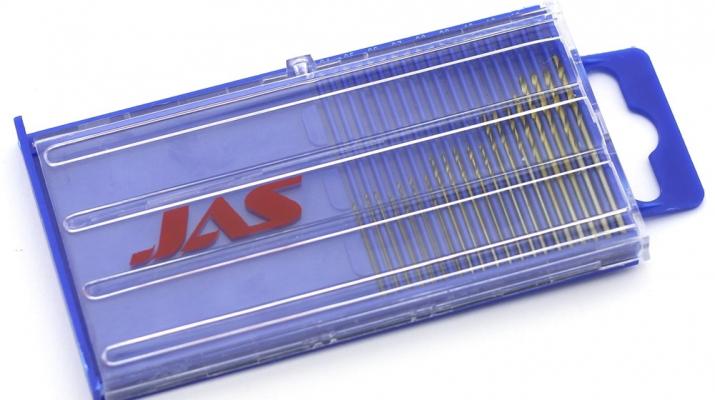 Мини-сверла, HSS 4341, нитрид-титановое покрытие, d 0,3 - 1,6 мм, набор, 20 шт.