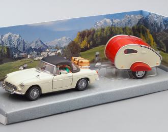 MGB 430 с прицепом и фигурками, beige / red