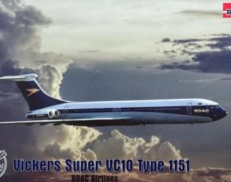 Сборная модель Vickers Super VC10 Type 1151 BOAC