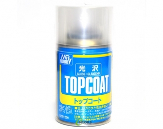Аэрозольная краска MR.HOBBY Topcoat Gloss Spray (86мл) (в баллоне)