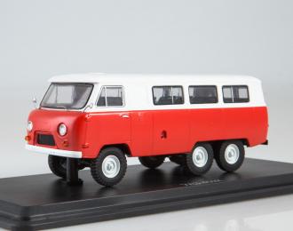 УАЗ-452К 6x6, красный / белый