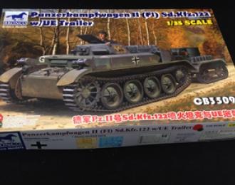 Сборная модель   PzKpfw.II(F) Sd.Kfz.122 w/UE Trailer