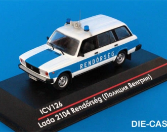 LADA 2104 Rendorseg Полиция Венгрии, белый / голубой