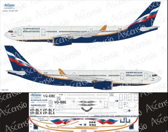 Декаль на самолет Arbus A330-200 (Арофлот Росийские Авалинии)