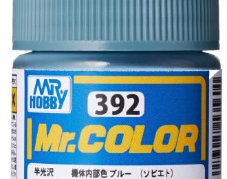 Краска эмалевая INTERIOR BLUE / SOVIET (Светло-голубой, с оттенком серого) 10мл