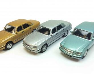 Набор из 3 моделей Горький 31105, бирюзовый / серебристый / золотой
