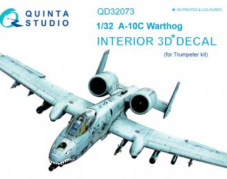 3D Декаль интерьера кабины A-10C (для модели Trumpeter)