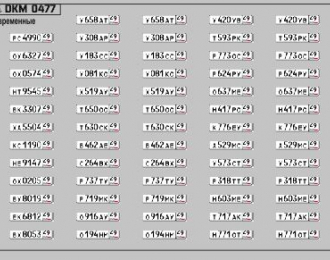 Набор декалей Номерные знаки России Магаданская область (100х70)