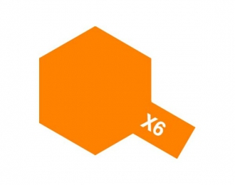 X-6 Orange (краска эмалевая, оранжевый глянцевый), 10мл.