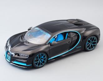 Bugatti Chiron, black / blue