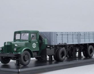 МАЗ 200В с полуприцепом МАЗ-5215, зеленый / серый
