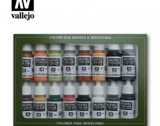 Краска акриловая `Model Color Набор №7 wwII German 16цв