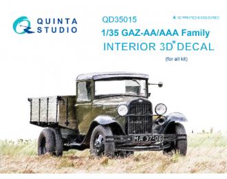 3D Декаль интерьера кабины для семейства Г@З-АА/ААА (для любых моделей)