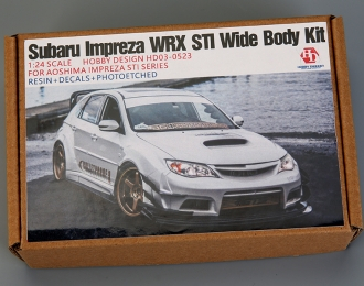 Конверсионный набор Subaru Impreza WRX STI Wide Body Kit для моделей Aoshima Impreza STI Series (Resin+Metal Wheels+PE+Decals+Metal Logo+Metal parts)