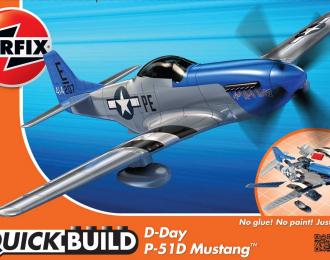 Сборная модель Quickbuild D-Day P-51D Mustang