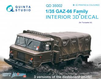 3D Декаль интерьера кабины для семейства Г-66 (для любых моделей)