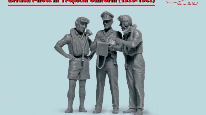 Сборная модель Фигуры, Пилоты ВВС Великобритании в тропической униформе (1939-1943) (3 фигуры)