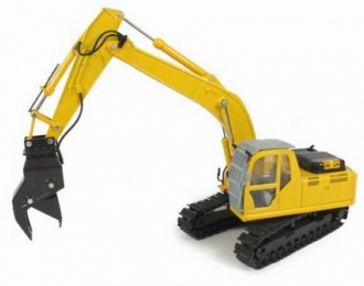 NH E215B Boom with drill, yellow