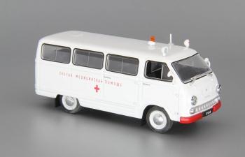 РАФ 977ИМ Скорая Помощь, Автомобиль на службе 76, белый