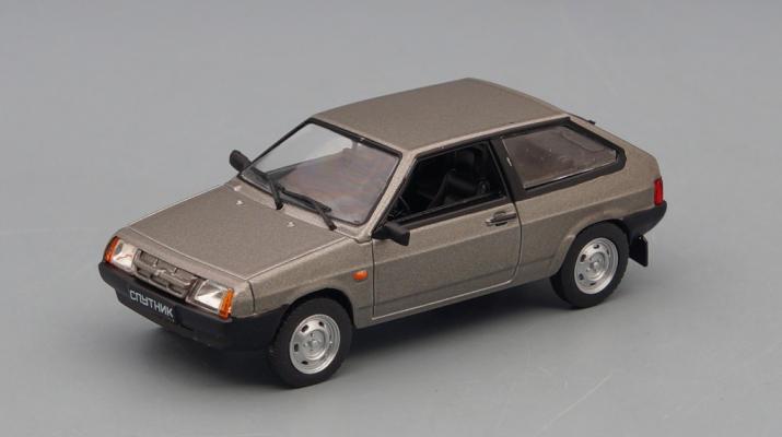 Волжский автомобиль 2108 Спутник 1984-2003 гг., Автолегенды СССР 264, серый металлик