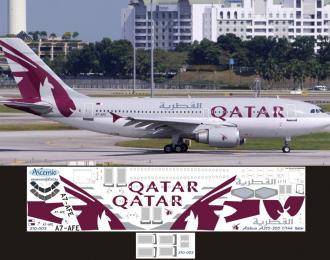 Декаль на самолет Arbus A310-300 (Qatr)