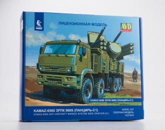 Сборная модель Камский грузовик 6560 ЗРПК 96К6 (Панцирь-С1)