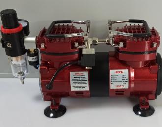 Компрессор 1225, с регулятором давления, автоматика, два режима работы, два цилиндра