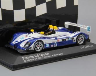 PORSCHE RS Spyder A.Wallace / B.Leitzinger Utah GP ALMS 2007, blue